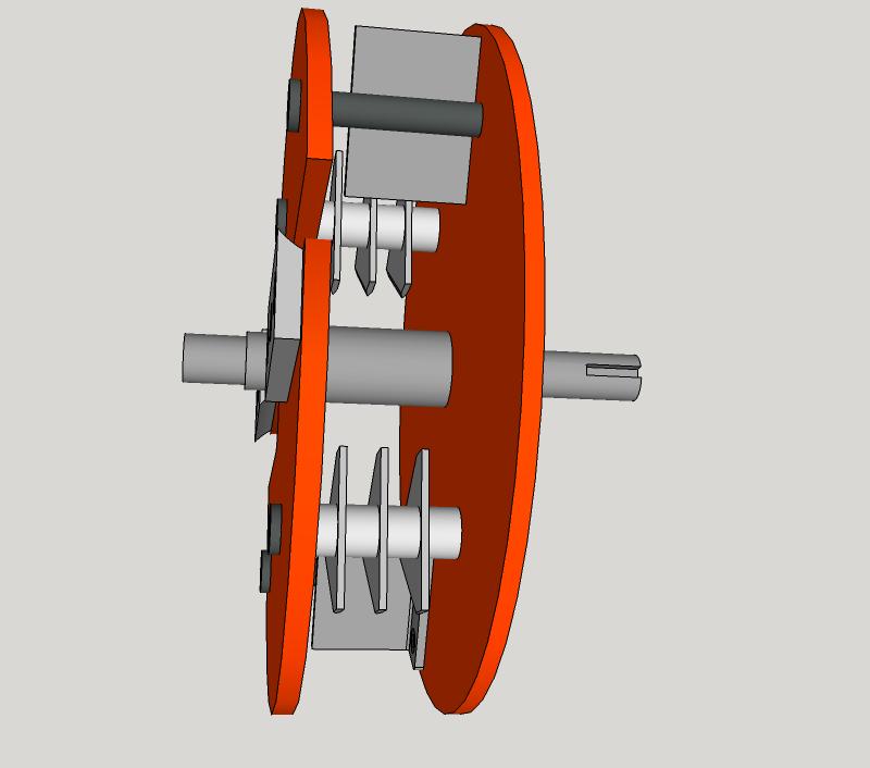 Début de Conception pour la Fabrication d'un Broyeur de Végétaux Rotor2